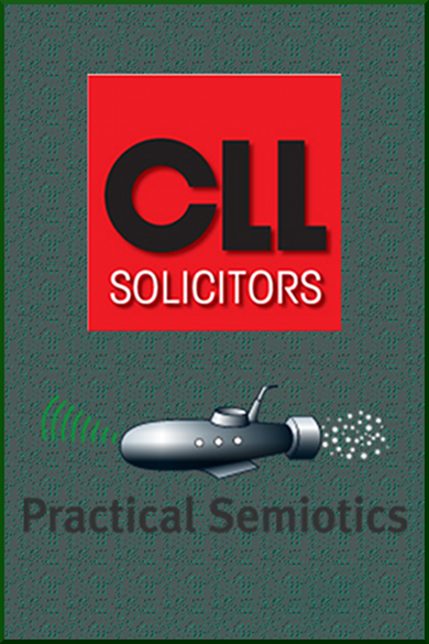 CLL Solicitors and Practical Semiotics Logos